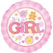 Fóliový balónek It's a Girl Pink
