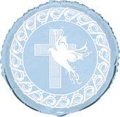 Fóliový balónek křížek modrý
