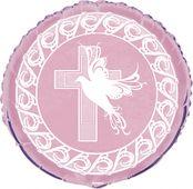 Fóliový balónek křížek růžový