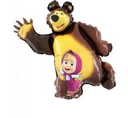 Mini fóliový balónek Máša a medvěd
