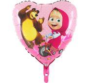 Fóliový balónek Máša a medvěd srdce