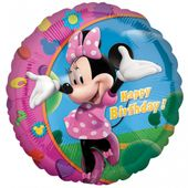 Fóliový balónek Minnie happy birthday