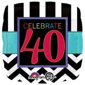 "Fóliový balónek narozeniny  ""40"""