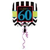 "Fóliový balónek narozeniny  ""60"""