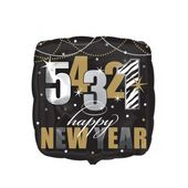 Fóliový balónek Nový rok 5-4-3-2-1