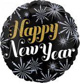 Fóliový balonek New year ohňostroj