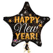 Fóliový balónek New year star