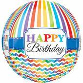 Fóliový balónek orbz Bright Birthday