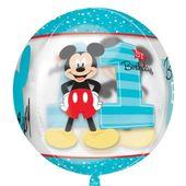 Fóliový balónek orbz Mickeyho 1. narozeniny