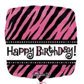 Fóliový balónek Pink Zebra HB