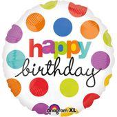 Fóliový balónek Polka Dot Birthday