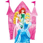 Fóliový balónek supershape Disney Princezny hrad