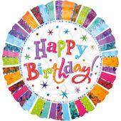 Fóliový balónek Jumbo Radiant Birthday