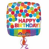Fóliový balónek Rainbow Birthday
