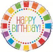 """Fóliový balónek Rainbow """"Happy Birthday"""""""