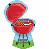 Fóliový balónek supershape Red Grill