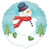 Fóliový balónek Sněhulák