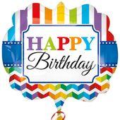 Fóliový balónek supershape Bright Birthday