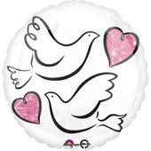 Fóliový balónek Svatební holubice