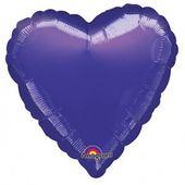Fóliový balónek srdce tmavě-purpurové