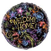 """Fóliový balónek """"Welcome Home"""" Stars"""