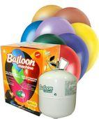 Heliová láhev 100 + balónky