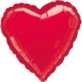 Jumbo balónek metalické červené srdce