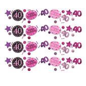 """Konfety """"40"""" růžové diamanty"""