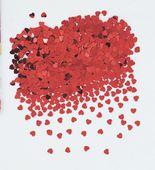 Konfety červené srdíčka