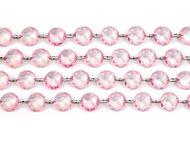 Krystalová girlanda světle-růžová