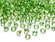 Krystalové diamanty svetlězelené