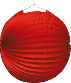 Lampion jednobarevný červený