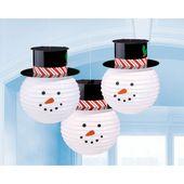 Lampiony Sněhuláci
