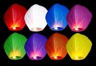 Lampiony štěstí multicolor - 10ks
