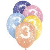 """Latexové balónky """"3"""""""