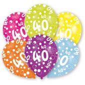 """Latexové balónky """"40"""" multi"""