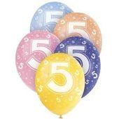 """Latexové balónky """"5"""""""