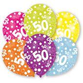 """Latexové balónky """"50"""" multi"""