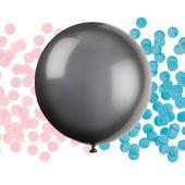 Balónek velký s konfetami Gender Reveal