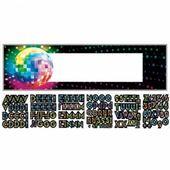 Mega banner s vlastním nápisem Disco Fever 70's