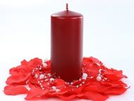 Metalická svíčka- bordová