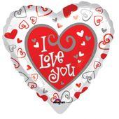 "Mini fóliový balónek 4"" Simply said love"