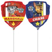 Mini fóliový balónek Tlapková patrola - Chase