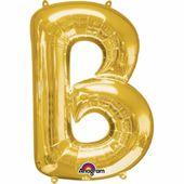 """Fóliový balónek """"B"""" zlatý"""