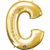 """Fóliový balónek """"C"""" zlatý"""