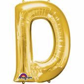 """Fóliový balónek  """"D"""" zlatý"""
