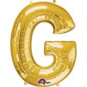 """Fóliový balónek """"G"""" zlatý"""