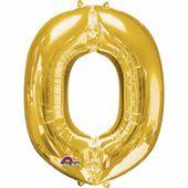 """Fóliový balónek """"O"""" zlatý"""