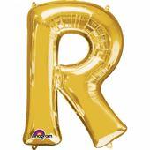 """Fóliový balónek """"R"""" zlatý"""