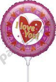 Mini fóliový balónek I love you